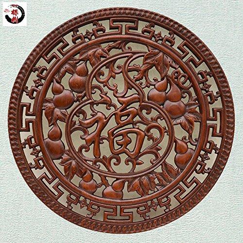 Geschnitzte Chinesische Antik Anhänger Veranda Wohnzimmer Massivholzcharakter runden Ornamenten zu verzieren ,Kürbis-Fu (Kürbis Schnitzereien)