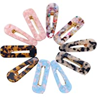 10pezzi fermagli per capelli in resina acrilica Barrettes per ragazze Donne Leopard geometriche clip a coccodrillo…