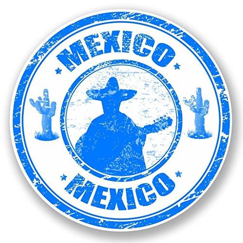 Preisvergleich Produktbild 2 x 10cm/100mm Mexiko Vinyl SELBSTKLEBENDE STICKER Aufkleber Laptop reisen Gepäckwagen iPad Zeichen Spaß #5923