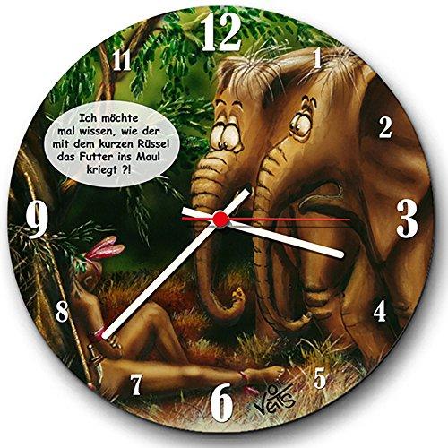 Diseño de reloj de pared Elefant UB0023 de Veit de
