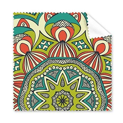 OIBHFO Home Druckwiederholungs-Stoff-Grün-Bunte Kunst-Korn-Illustrations-Muster-Glas-Tuch-Reinigungs-Tuch-Telefon-Bildschirm-Reinigungsmittel - Reinigung Körner