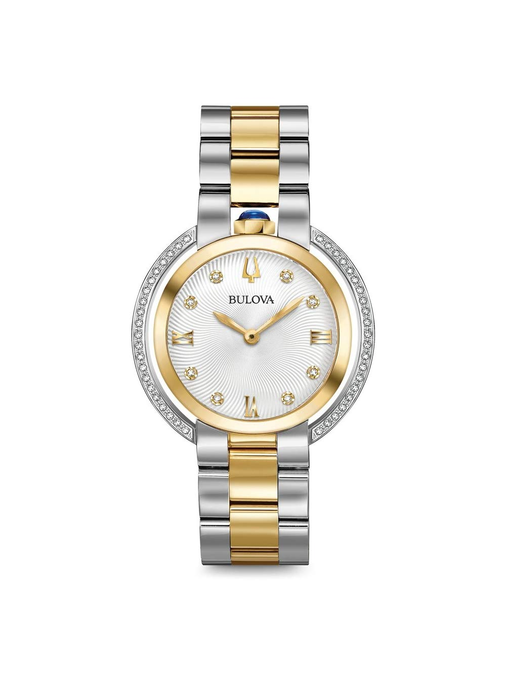 la mejor calidad para apariencia elegante gran descuento Bulova Rubaiyat 98R246 - Reloj de Pulsera para Mujer con Diamante de Dos  Tonos de Oro Amarillo y Acero Inoxidable