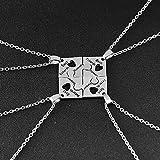 Best Friends Forever Puzzle Halskette, Mode Zubehör, Guten Freund Halskette, BFF Love Verbindung KETTE, vier Freundschaft Halskette, Best Friends Halskette, Verbindung Form Halsketten