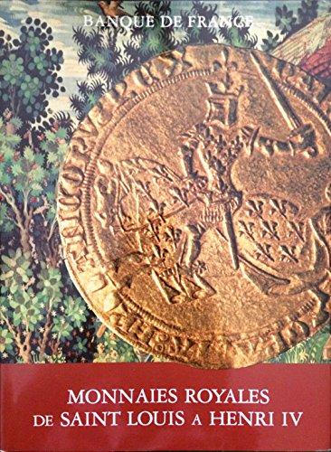 Monnaies royales de saint louis a henri IV