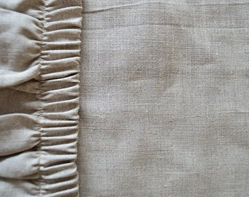 100% Leinen Spannbettlaken Laken 90 x 200cm Natur Leinen Farbe Oeko-TEX/ 175g/qm