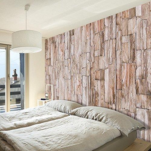 murando - PURO TAPETE - Realistische Steinoptik Tapete ohne Rapport und Versatz - Kein sich wiederholendes Muster - 10m Vlies Tapetenrolle - Wandtapete - modern design - Fototapete - ! Steine f-A-0208-j-b