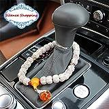 Silence Shopping Auto ornamento decorazione perline Auto Mirror Rearview Benedizione Simbolo di Viaggio Sicuro Auto Interno Pendente Ciondolo (Bianco)