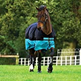 Horseware Amigo Mio Turnout medium black turquoise Weidedecke Winterdecke (140)