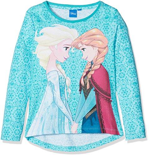 Disney Frozen Girl's Frozen Snowflakes Background T-Shirt