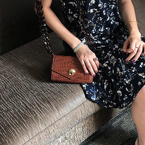 Pacchetto estivo, piccolo sacchetto quadrato selvatico, zaino obliquo, borse, borsa a tracolla selvatica ( Colore : Khaki ) Khaki