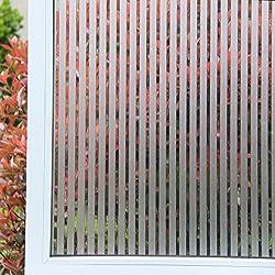 Concus-T Static Cling vinilo premium Frosted rayas de privacidad lámina para ventanas 60x200cm