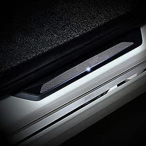 Cobear 4d Kohlefaser Einstiegsleiste Schutz Aufkleber Reflektierende Lackschutzfolie Für Z3 E36 Z4 E85 E86 E89 Z8 E52 Einstiegsleisten 4 Stück Auto
