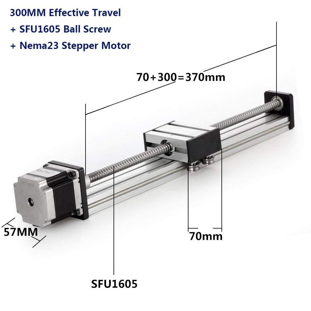 300mm Linear Antrieb SFU1605 Nema23 Linear führungsschiene Linearer Stufenantrieb für X Y Z Axis DIY CNC Router Spindel