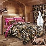 Best Sheet And Pillowcase Sets - Hunter Camo Comforter, Sheet, & Pillowcase Set Black Review