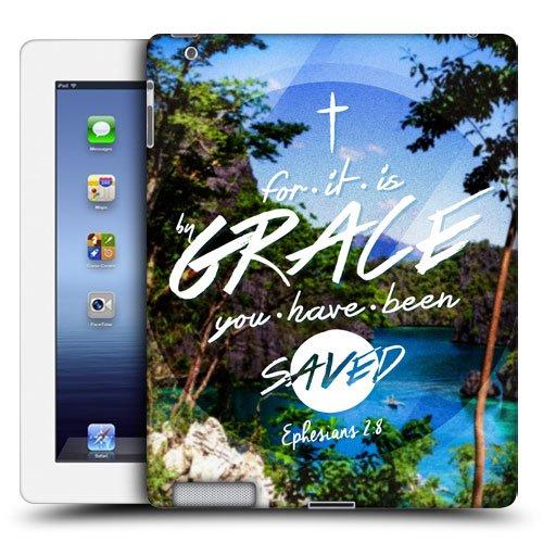 Head Case Designs Gnade Christlicher Typografie Snap-on Schutzhülle Back Case für Apple iPad 3 iPad with Retina Display