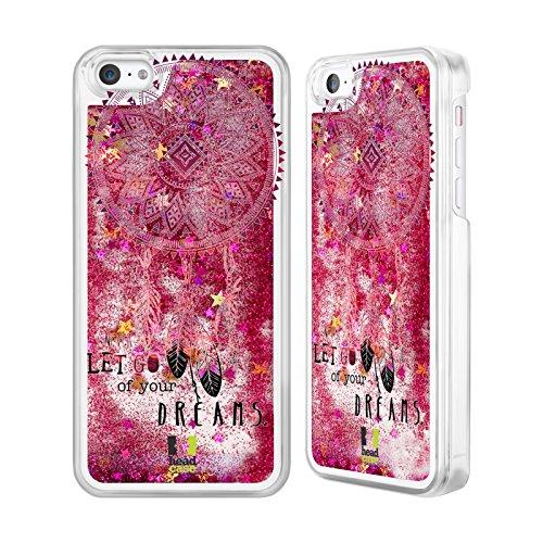 Head Case Designs Jamais Lâcher Attrape- Rêves Étui Coque Liquide Scintillez Rose chaud pour Apple iPhone 5c Jamais Lâcher