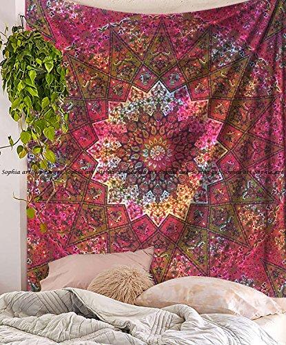 Tie Dye Tapisserie Tapisserie Elefant Star Mandala Wandbehang Bohemian Wandbehang Tapisserie Hippie Boho Beach Überwurf Vorhang Queen Tapisserie ()
