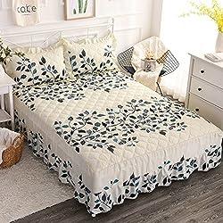 Falda de cama acolchado solo espesar juegos de cama hoja del colcha-S 120x200cm(47x79inch)