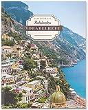 DÉKOKIND Vokabelheft   DIN A4, 84 Seiten, 2 Spalten, Register, Vintage Softcover   Dickes Vokabelbuch   Motiv: Italienische Küste