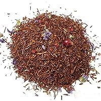 Aromas de Té - Té Infusión Rooibos Alhambra a Granel Afrutado Relajante y Digestivo con Brotes de Malva, Frambuesas, Pasas Liofilizadas y Granos de Granada, 100 gr