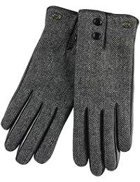 ELMA Warme Touchscreen-Winterhandschuhe aus Nappaleder für iPhone, iPad