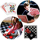 Jumbo Jumbo juego de alfombra y Tic Tac Toe todo en 1 Combo Party Pack - Diversión interior y al aire libre Yard juegos para niños