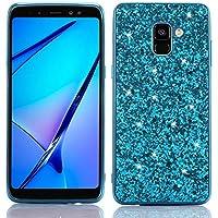 Misstars Luxus Glitzer Hülle für Galaxy A8 2018 Blau, Bling Sterne Pailletten Hart PC + Weiche TPU Rahmen Handyhülle... preisvergleich bei billige-tabletten.eu
