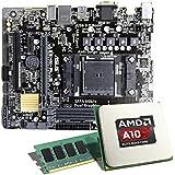 AMD A10-7860K / ASUS A68HM-PLUS / 8GB Mainboard Bundle | CSL PC Aufrüstkit | AMD A10-7860K APU 4x 3600 MHz, Radeon R7, 8GB RAM GigLAN, 7.1 Sound, USB 3.1 | Aufrüstset | PC Tuning Kit