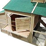 Weißes Hühnerhaus Freilauf Holz Cottage-Style Hühnerstall Käfig Auslauf - 6