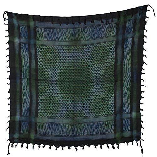 Freak Scene® Foulard palestinien/keffieh en coton - multicolore - 100 x 100 cm - Grand choix de couleurs et batik noir motif multicolore 2 (batik)