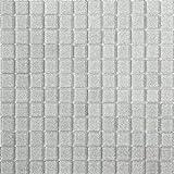 Glas Mosaik Fliesen Matte in Silber mit Glitzer (MT0073)