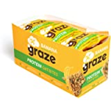 Graze Banana Protein Oat Bites - Vegan Healthy Snack with Whole Oats - 30g (Pack of 15) - Packaging May Vary