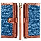 iPhone XR Coque Housse en Cuir Etui Flip Cover Case Portefeuille Etui Housse...