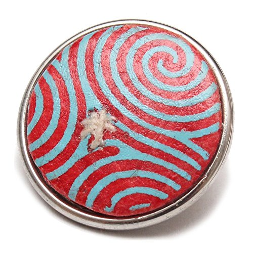 Noosa Chunk Trispiral paper red blue print - Sammlerstück - mit Giftbox