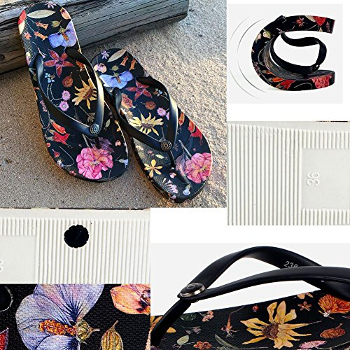 Été Cool Femmes Hawaiian Beach Sandals Flip Flops pourpre