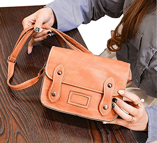 Modakeusu Classic busta in stile portafoglio piccolo telefono cellulare portafoglio borsetta con tracolla per le donne Brown Brown