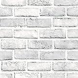 Pegatinas de Pared Piedra de ladrillo 3D 45 * 100cm Efecto Rústico Autoadhesivo Etiqueta de la Pared Decoración para el Hogar Holatee