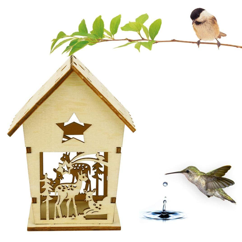 IGEMY- Casetta per uccelli in legno, fai da te per casa per uccelli e uccelli