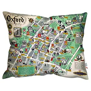 WELOVECUSHIONS Oxford College Mapa – Museo del ferrocarril Nacional cojín
