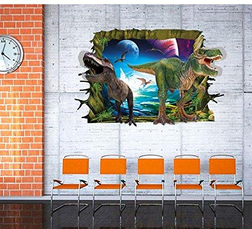 Möbel Fan (3D Dinosaurier Wandsticker Wandtattoo Wandbilder Aufkleber selbstklebend für Kinderzimmer und Dino Fans)