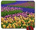 Spring flower bed mouse pad computer mousepad