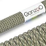 Paracord 550 Seil Snake 1 | 31 Meter Nylon-Seil mit 7 Kern-Stränge | für Armband | Knüpfen von Hunde-Leine oder Hunde-Halsband zum selber machen | Seil mit 4mm Stärke | Mehrzweck-Seil | Survival-Seil | Parachute Cord belastbar bis 250kg (550lbs) Camouflage, beige, grau - Marke Ganzoo