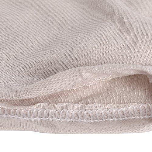 Bonboho -  Maglia a manica lunga  - Basic - Collo a U  - Donna Beige
