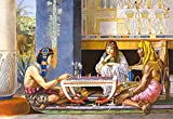 Puzzle 1000 Teile - ägyptische Schachspieler - Schachspiel in Ägypten - Sir Lawrence Alma Tadema - Kairo Asien Egyptian Schach