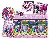 Procos 10111787B - Set per feste Trolls DreamWorks, 49 pezzi