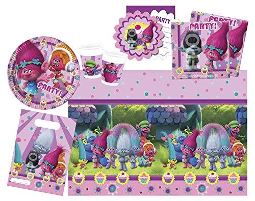 Procos-10111787b–Juego-de-accesorios-de-fiesta-Dreamworks-Trolls-49-piezas