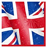 Unique Party Best of British Union Jack Napkins, Pack of 16 from Unique Party