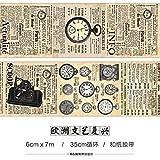 JSGDJD Klebeband 4 Stk./Pack europäischen Antike Washi Tape Klebeband DIY Scrapbooking Sticker Label Abdeckband - 4 Stk/Pack