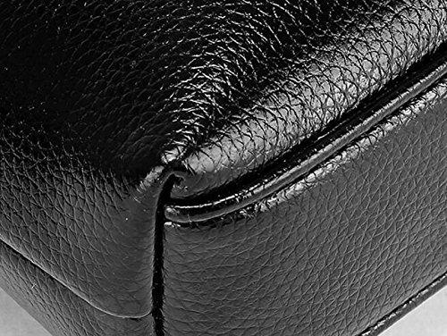 Borsa A Tracolla Uomo Trasparente Casuale Obliquo Pacchetto Anti-furto Pacchetto Business Cartella Black