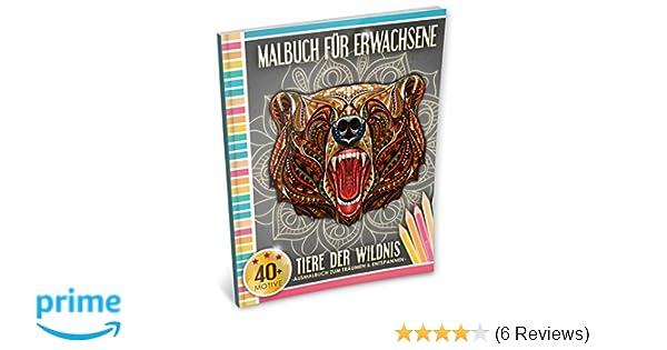Malbuch für Erwachsene: Tiere der Wildnis Kleestern®, A4 Format, 40+ ...